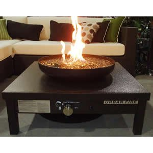 Bronze Outdoor Gas Fire Pit Table Garden Outdoors