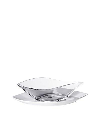 Pordamsa Gota Glass Bowl with a Porcelain Base