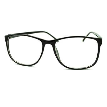 Eyeglasses Thin Frame : Amazon.com: Black Square Clear Lens Eyeglasses Oversized ...
