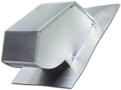 Lambro Industries Roof Caps Aluminum with Damper & Screen Fits up to 7