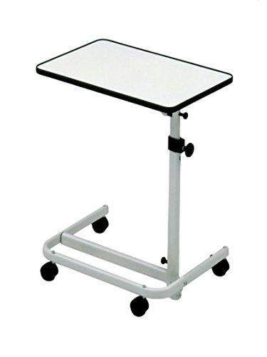Beistell-Tisch-Krankenbett-fahrbar-mit-2-Feststellbremsen-stufenlos-hhenverstellbar-Tischneigung