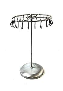 Amazon Com Antique Silver Color 24 Hooks Rotating