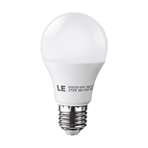 Le 10W A19 E27 Led Light Bulbs, Brightest 60W Incandescent Bulbs Equivalent, 810Lm, Warm White, Medium Screw
