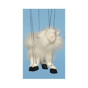 Farm Animal (White Goat) Small Marionette by Sunny Puppets