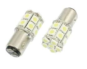 Cutequeen LED Car Lights Bulb 1157 Ba15D 5050 20-SMD STOP BRAKE TAIL LIGHT BULBS 12V - White