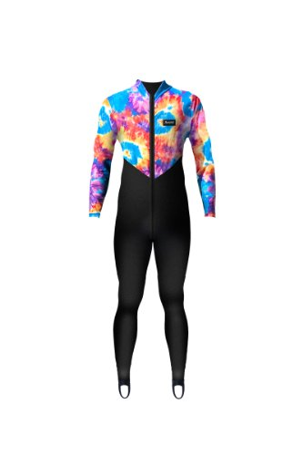 Aeroskin Nylon Full Body Suit with Tie Dyed Pattern (Black/Tie Dyed Pattern, XX-Large)