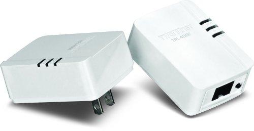 TRENDnet 500 Mbps Compact Powerline Ethernet AV Adapter Kit (TPL-406E2K)