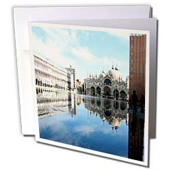 Vacation Spots - Piazza San Marco Venezia Italy - Greeting Cards-6 Greeting Cards with envelopes