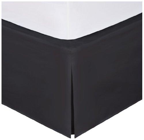 Levinsohn Magic Skirt Wraparound Tailored Bedskirt, King, Black