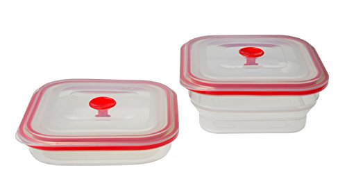 Creo Collapsible Airtight Food Storage Containers, Freezer to Oven Safe, 500ml (Silicone Valve Seal compare prices)