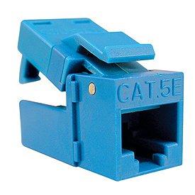 Platinum Tools 705BL-1 EZ-SnapJack Cat.5e Connector-Blue