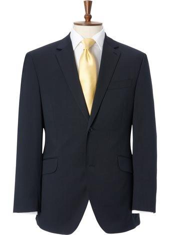 Austin Reed Contemporary Fit Navy Semi Plain Jacket LONG MENS 40