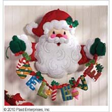 Bucilla 86189 Believe In Santa Wall Hanging Felt Applique Home Accent Kit, 20-Inch by 17-Inch