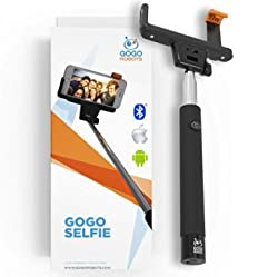Voted #1 Selfie Stick: The GoGo Selfie Stick iPhone 6 plus, iPhone 5, iPhone 5s, Android & Samsung Compatible! This bluetooth Selfie Stick has recently been voted best iPhone camera stick. - Wireless Bluetooth, No Remote - Li