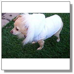 Dog Gone Cute by Lou's Doggie Boutique Dog White Parka, Coat, Jacket, Vest, XS