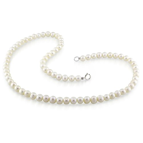 Fresh Water White Pearl Necklace With Brass (5-6 mm)