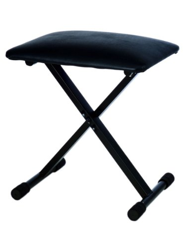 Yamaha L-85 Wooden Digital Piano Stand Bundle for P-35, P-85, P-95, and P-105 with Foldable Bench, Dust Cover, and Polishing Cloth - Black