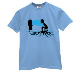 Television Roots T-Shirt-Mens-Light Blue-