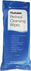 "Pharma-C-WipesTM Flushable Perineal Cleansing Wipe 7"" x 8"" No-Rinse by Custom Manufactured Products Llc"