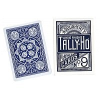 Tally Ho Fan Back Cards - Poker size (Blue) - 1