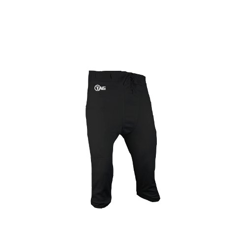 TAG Adult Slotted Football Pants 5X-Large (Black) Waist (47-50in) (Adult Football Pants compare prices)