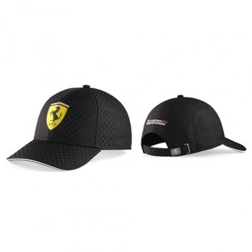 Ferrari Black Checkered Shield Hat