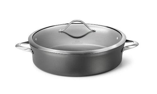 Calphalon Contemporary Hard-Anodized Aluminum Nonstick Cookware, Sauteuse, 7-quart, Black