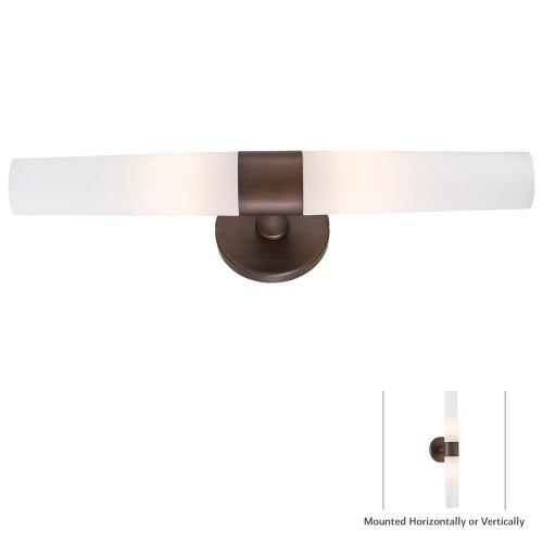 George Kovacs P5042-647B, Saber, 2 Light Bath Fixture, Painted Copper Patina