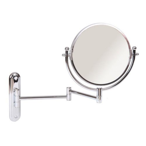 Wall-Mount Swinging Arm 4X Magnifying Mirror Finish: Chrome front-21918