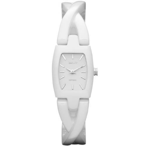 DKNY ny8728 19mm Ceramic Case White Ceramic Mineral Women's Watch