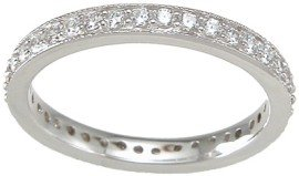 Sterling Silver Stackable Wedding Band Eternity Anniversary Ring by LaRaso & Co