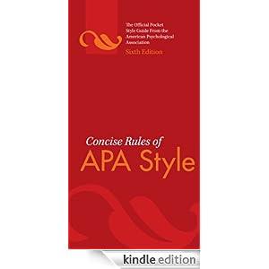Apa manual 6th edition