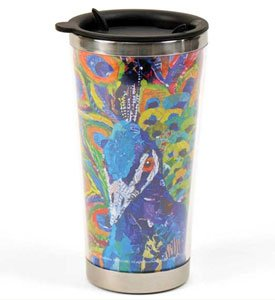 Decorative Lang 16Oz. Travel Mug With Lid: Paper Paintings....Art By Elizabeth St. Hilaire Nelson