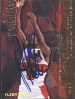 Alan Henderson Atlanta Hawks 1995 Fleer Rookie Autographed Hand Signed Trading Card -... by Hall+of+Fame+Memorabilia