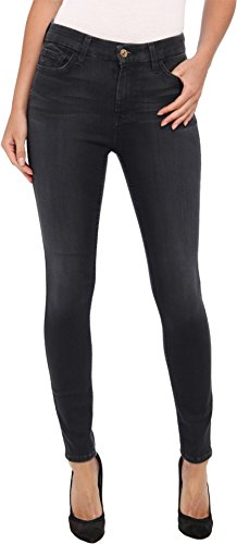 7 For All Mankind Women's High-Waist Ankle Skinny Jean in Bastille Grey, Bastille Grey, 29