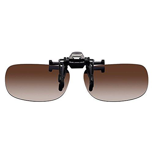 Zheino One-piece Sonnenbrillen-Clip Polarisierende Flip Up,UV 400 Sonnenbrille Brillen Aufsatz Clipon Clip On's Brille Sonnenbrillen,Sonnenbrillen-Clip für Brillenträger