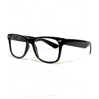 Lunettes style Wayfarer - design 80's couleur noire