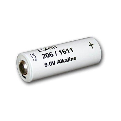 Exell 206A Alkaline 9V Battery 110Mah Neda 1611, H-7D, H-6D