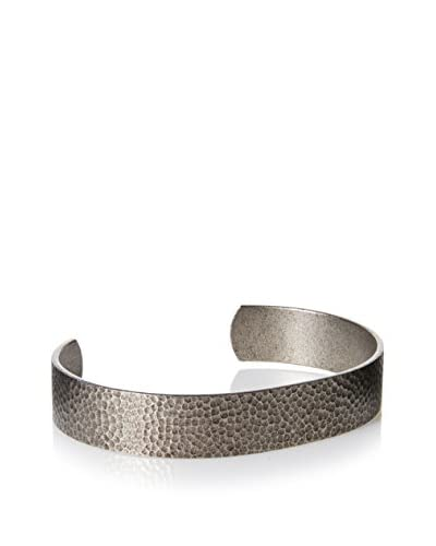 Link UP BR0032OS Open Cuff Bracelet with Hammer Pattern