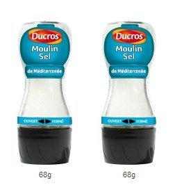 DUCROS - Produits stars - Moulins - Moulin sel de mediterranee - 60 g - lot de 2