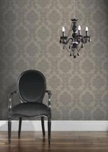 Classics Regency Damask Wallpaper - Taupe from New A-Brend