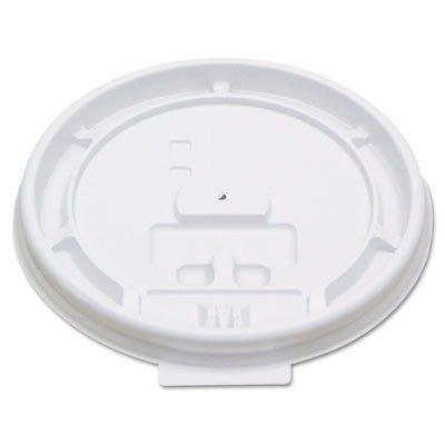 Boardwalk 8TABLID Plastic Tear Tab Lid For 8 oz Paper Hot Cup (10 Packs of 100)