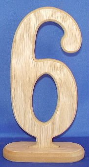 Table Number 6 Inch Classic 6 (Weddingtable Numbers compare prices)