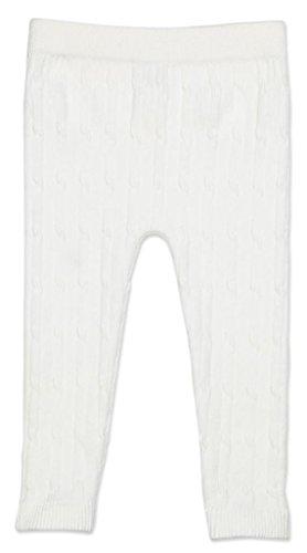 Cable Cotton Infant Leggings - Winter White,2-4Y
