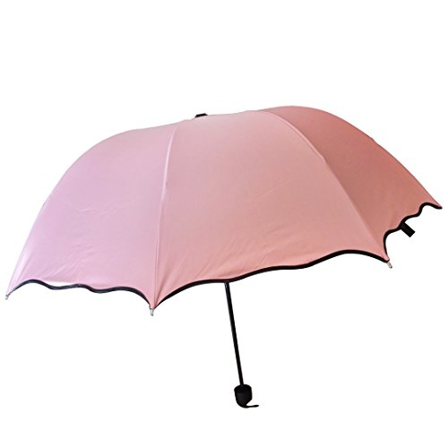 marca west anti uv parasol flower three folding sun rain windproof umbrella pink home garden. Black Bedroom Furniture Sets. Home Design Ideas