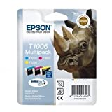 EPSON 3-Cartridge T1006 Multipack for Epson Stylus Office BX600FW, Office B40W, SX600FW