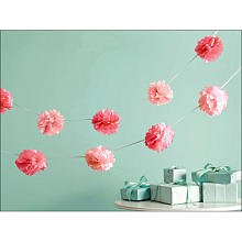 Martha Stewart Crafts Garland, Pink Pom Pom Small