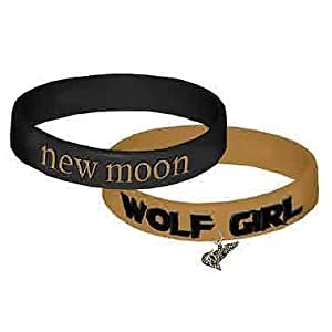 Twilight New Moon Wolf Girl Rubber Bracelet 2-Pack