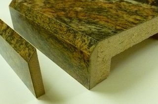 Bev-Loc; traditional bevel edge for laminate countertops. 106