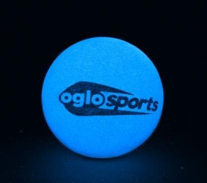 Glow in the Dark High Bounce Ball, 2.25-inch Diameter, Oglo Sports - 1